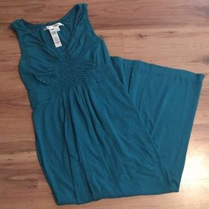 Max studio large teal maxi sinched detail dress